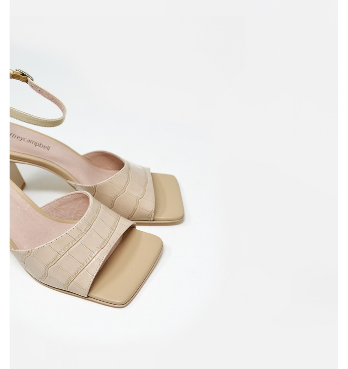 Zebulon Nude Croco by Jeffrey Campbell